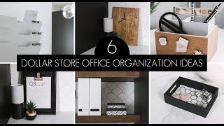 Dollar Store Office Organization & DIY Decor