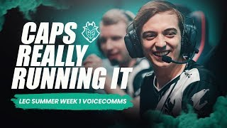 Caps Really Running It | LEC Week 1 G2 Voicecomms Summer Split