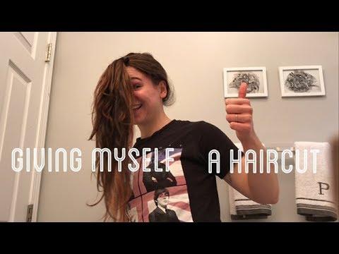 Giving Myself A Horrible Haircut At Home Haircut Gone Wrong