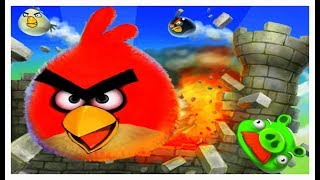 Angry Birds Round Puzzle Skill Game Walkthrough Levels 1-4
