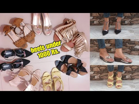 Flipkart heels 👠haul || Rs. 500- 1000 || shystyles