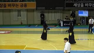 2019 단별검도대회 남자 3단부 32강 - 박장민 vs 최용빈 [검도V] kendov 동영상