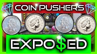 How To WIN on a COIN PUSHER HACKS, TRICKS, SCAMS & JACKPOTS | QUARTER Tutorial + Tips