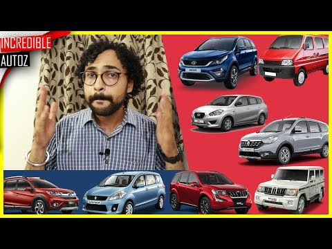 Best 7 Seater Cars In India | June 2018 | Incredible Autoz