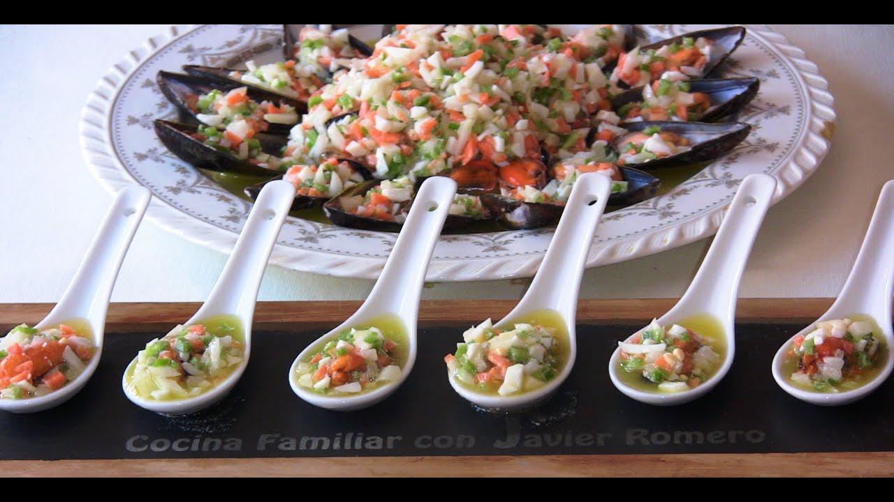 Mejillones con salsa vinagreta | Javier Romero