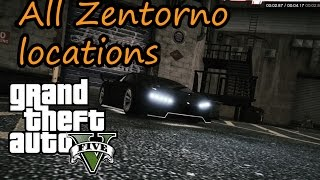 All Zentorno locations in GTA 5 {Remake}