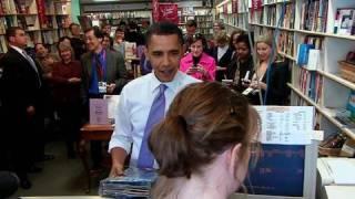 Raw Video: President Obama In Iowa Bookstore