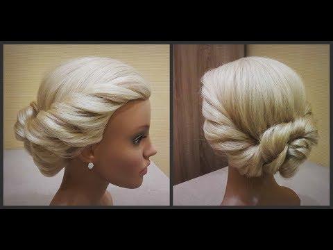 Красивая прическа в греческом стиле.удобно делать самой себе.Beautiful hairstyle in Greek style.