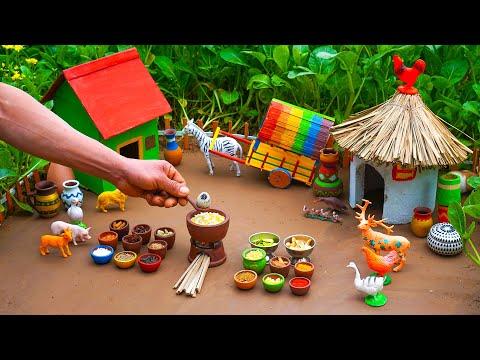 Pongal (Huggi) Recipe – Miniature Cooking with Hamster | Miniature Life #46
