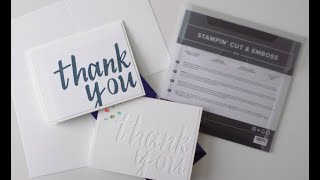 Hand-Lettered Prose Thank You Card