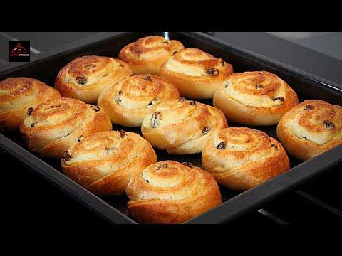 A Must Try Soft & Fluffy Raisins Cream Cheese Rolls - نان کشمشی و پنیر خامه ای بسیار نرم و خوشمزه