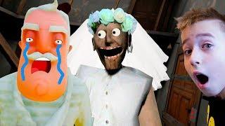Granny Привет Сосед Ночь в доме Злой Бабки летсплей от Папы и Мегароса Hello Neighbor letsplay