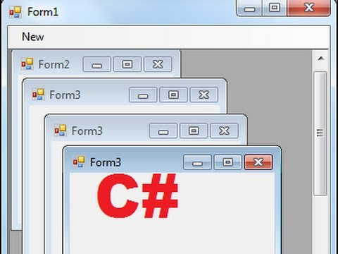 C# Tutorial 83: How To Use Multiple-Document Interface (MDI) In Windows Forms C# Mp3