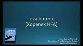 How to pronounce levalbuterol (Xopenex HFA) (Memorizing Pharmacology Flashcard)
