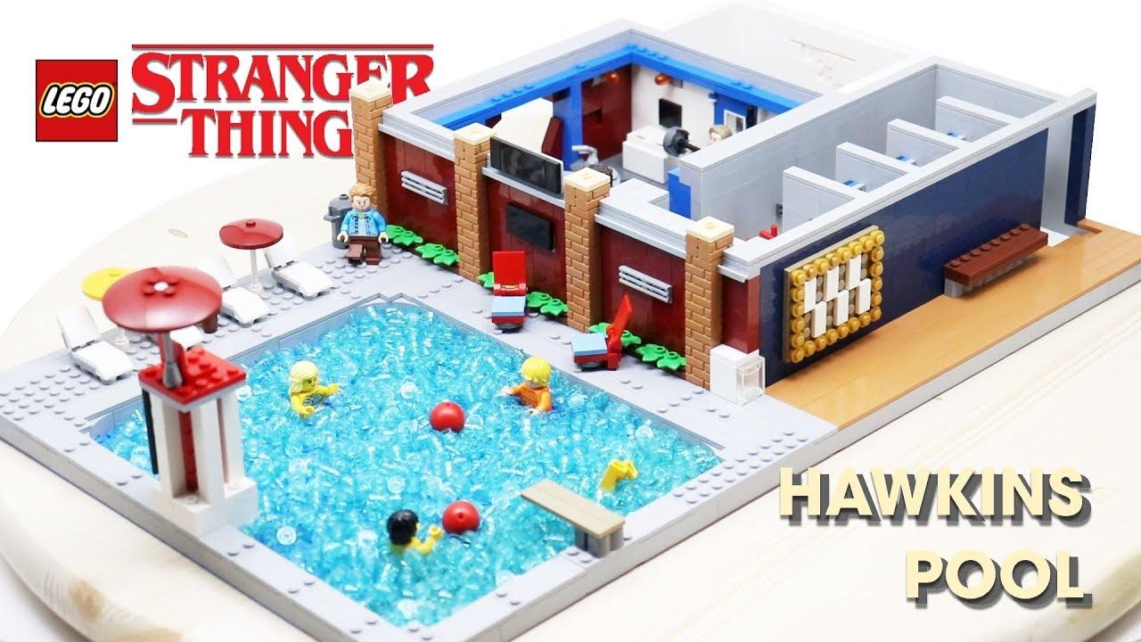 LEGO HAWKINS POOL (Sauna Test) From STRANGER THINGS! // Custom LEGO MOC
