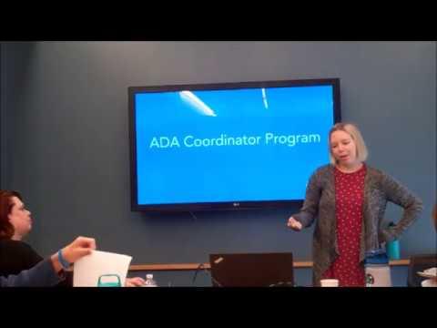 ADA Coordinator Training Certification Program - YouTube
