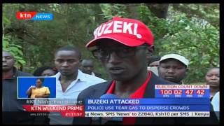Angry residents pelt Uasin Gishu governorship aspirant Zedekiah Buzeki Kiprono's convoy in Eldoret