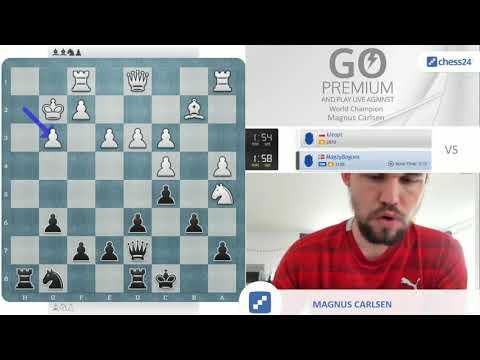 Magnus Carlsen being not that slow nor that weak.