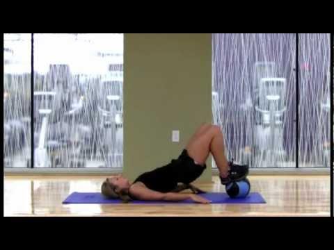 Medicine Ball Hip Bridge Variations