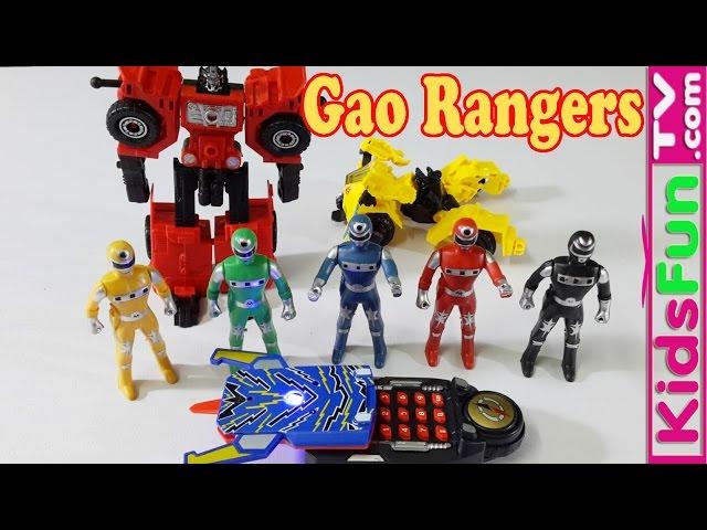Đồ Chơi Triệu Hồi 5 Anh Em Siêu Nhân Gao Và Học Màu Sắc Cho Bé - MegaFone  Rangers Gao - Actionmvovies24h