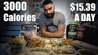 3000 Calories Meal Plan   $15/Day   Full Meal Prep Explained   Cutting Or Bulking Diet