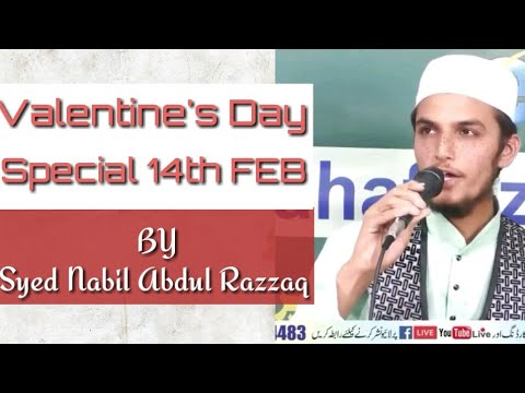 #valentinesdaysong #14feb Valentine's Day special song by Syed Nabil Abdul Razzaq| tahafuz e deen