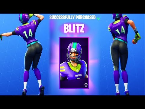 Football Skin Blitz Is The New Queen Of Fortnite Aetrix