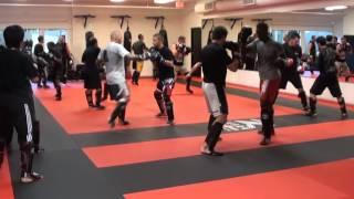kickboxing training with Bas Rutten.