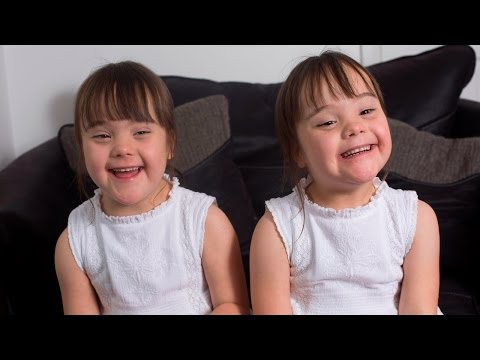 Watch videoDown's Syndrome Twins Are One In A Million