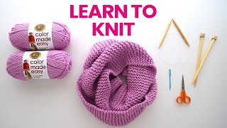 How to Knit a Scarf - no experience needed!