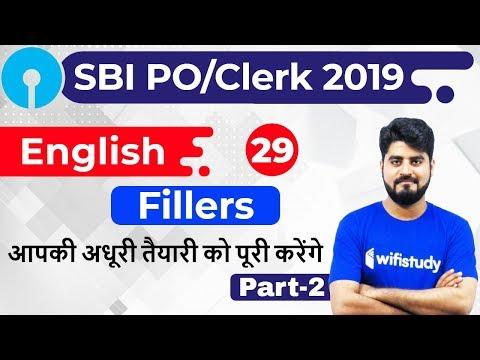 3:00 PM - SBI PO/Clerk 2019 | English by Vishal Sir | Fillers (Part-2)