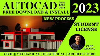[Free] DOWNLOAD AutoCAD | INSTALL FOR 1 YEAR | STUDENT LICENSE [2020]