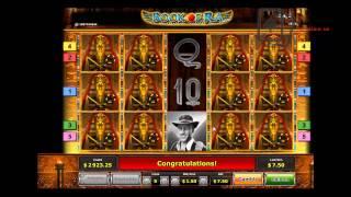Видео большого выигрыша в игровом автомате Book of Ra Deluxe