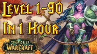 Level 1-90 In One Hour - World of Warcraft (Time-Lapse) WoW