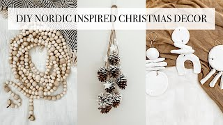 DIY Nordic Inspired Christmas Decor [easy Minimalist Christmas Crafts]