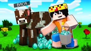 Paso Minecraft pero SACAR LECHE a las VACAS da cosas OP 🐮😱 eltrollino Minecraft