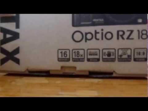 Pentax Optio RZ18 Unboxing