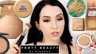 FENTY BEAUTY BRONZER Lightest Shade 😲 & BEST BRONZERS For Pale Skin | Shade Comparisons