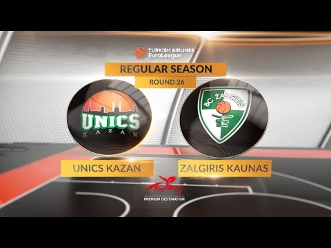 EuroLeague Highlights RS Round 26: Unics Kazan 80-82 Zalgiris Kaunas