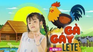 Gà Gáy Le Te ✿ Bé Minh Vy [MV 4K]☀ Ca Nhạc Thiếu Nhi Hay Nhất Cho Bé