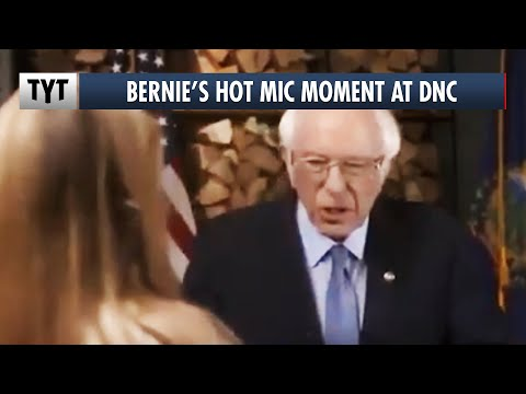 Bernie's MUST SEE Hot Mic Moment at DNC