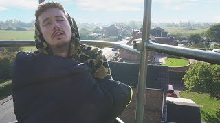 I Spent the Night on a Crane 100 Feet in the Air & It Was so Scary (Night in the Sky Challenge)