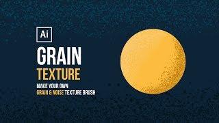 Grain Texture | Make your own Grain Texture Brush in Adobe Illustrator
