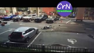 https://crashnews.org   На МКАД Ниссан вылетел с эстакады на стоянку элитного автосалона