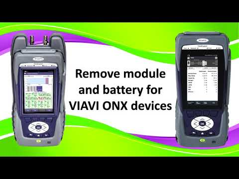 Video: How To Remove Module and Battery VIAVI ONX Devices