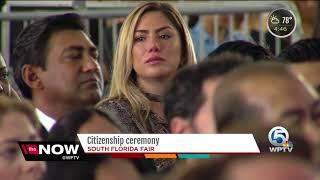Citizenship ceremony at the South Florida Fair