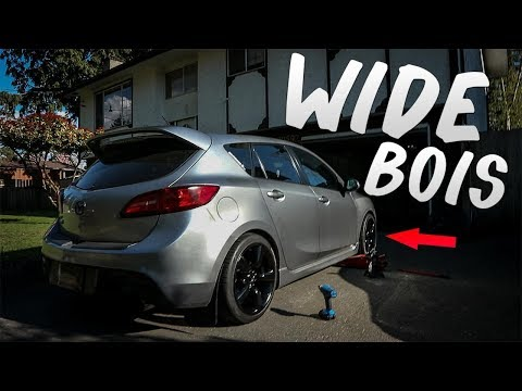 350z WHEELS ON A MAZDASPEED 3!