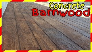 Decorative Concrete Barnwood Patio Resurfacing Lake Ozark