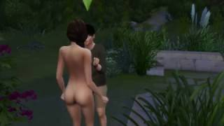 The Sims 4 Get Together Woohoo in bush nude with mistresses in river 18+