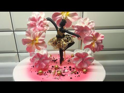 Как оформить торт для девочки с балериной